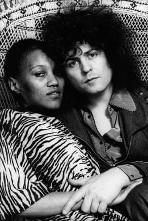 Bolan with his partner Gloria Jones, a former Motown staff writer.
