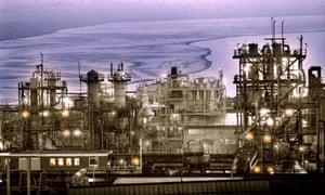 Chemical production is concentrated in four main areas including Runcorn, above