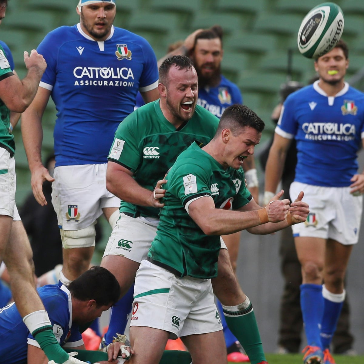 Ireland 50 17 Italy Six Nations 2020 As It Happened Sport The Guardian
