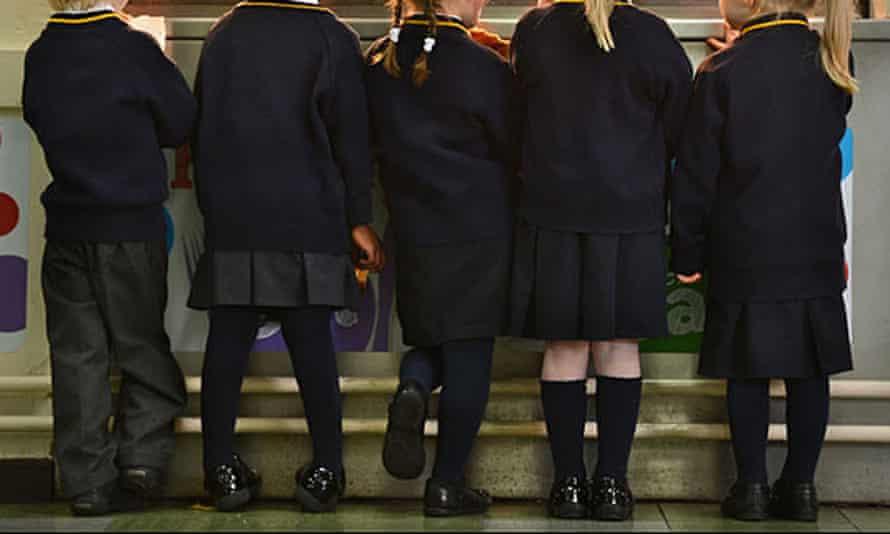 Stock picture of anonymous primary school children