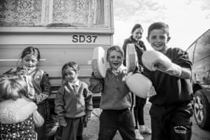 The images capture the children's grit and beauty, resilience and optimism and reveal their pride for their family and culture