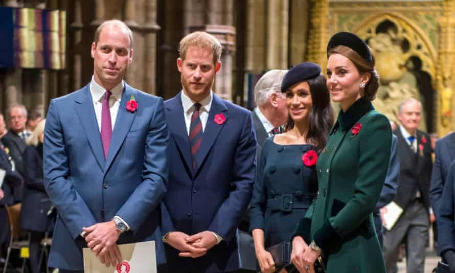 William, Harry, Meghan and Kate