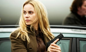 Deadpan … Sofia Helin as Saga Norén in The Bridge.