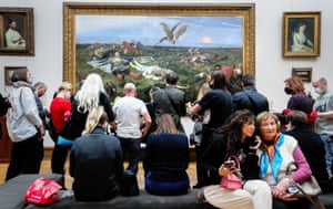 Moscow, RussiaVisitors at The Tretyakov Gallery view an exhibition titled 'Rejected Masterpieces: Pavel Tretyakov's Challenge' which features a selection of artworks of the second half of the nineteenth century that stimulated debate and controversy.