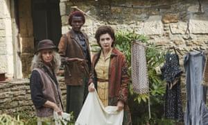 Rita Tushingham (Bella), Sheila Atim (Thyrza) and Kathy Kiera Clarke (Sybil) in BBC One's The Pale Horse.