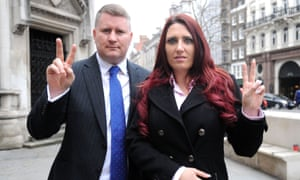 Paul Golding, 35, and Jayda Fransen, 31, leading members of the far-right group Britain First.