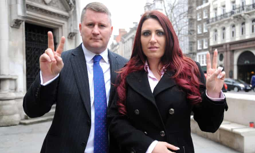 Paul Golding and Jayda Fransen, the leader and deputy leader of Britain First.