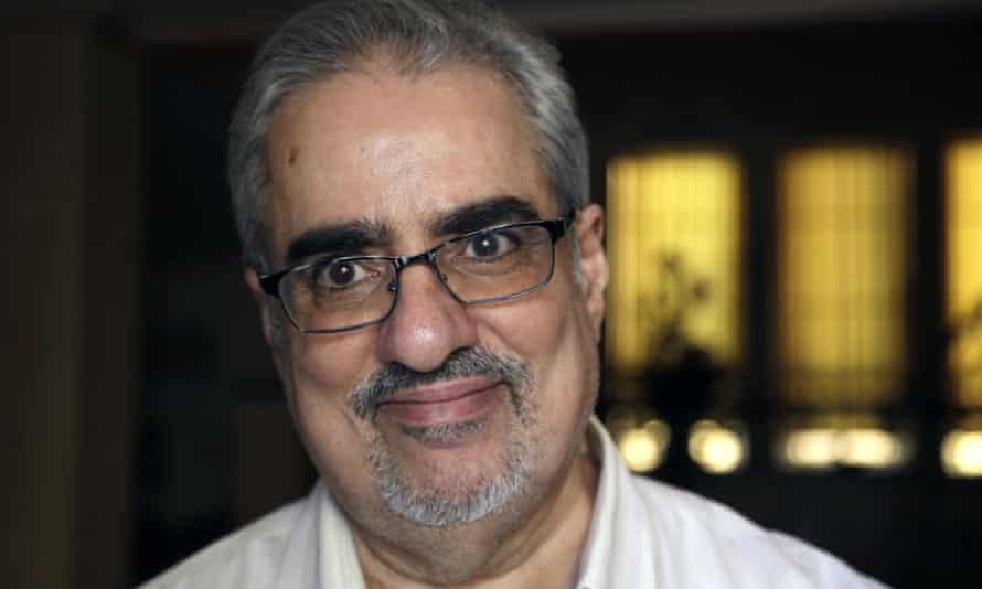Ebrahim Sharif after leaving jail in 2015.