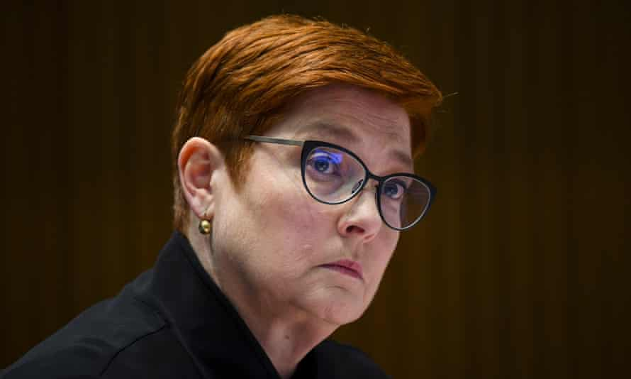 Australian foreign affairs minister Marise Payne said Australia's position on net zero emissions matters because climate change is a 'key security challenge' for the Pacific.