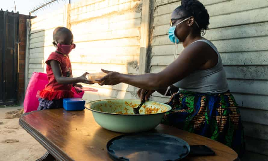 With her team of volunteers, Samantha Murozoki provides food for hundreds of people in Chitungwiza, Harare, during Zimbabwe's lockdown.