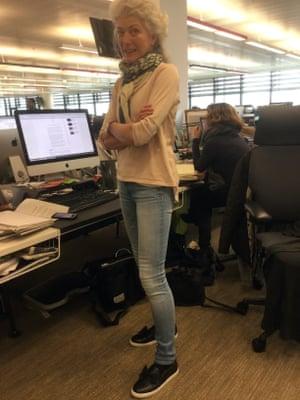 Anne Perkins wearing jeans.