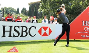Jason Day of Australia plays a shot during the HSBC world golf championships in Shanghai