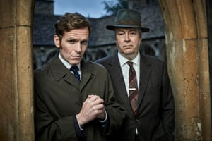 Shaun Evans, left, in the title role and Roger Allam as DCI Thursday in Endeavour.