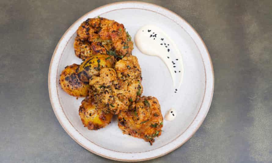 'Unashamed punch and heat': achari cauliflowers and potatoes.