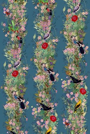 An example of Timorous Beasties' wallpaper designs: Fruit Looters.