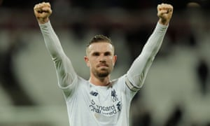 Liverpool's captain, Jordan Henderson, showed 'what makes a true leader', according to Ben Mee.