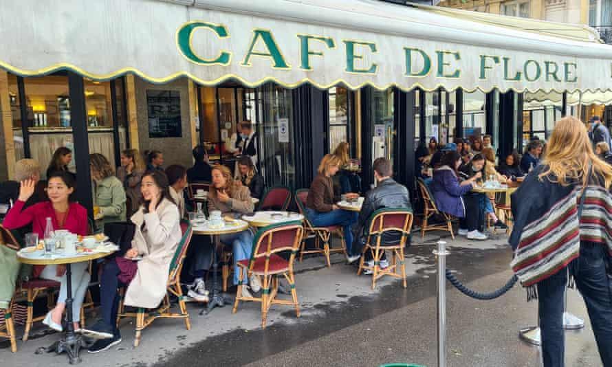 Café de Flore in Saint-Germain-des-Prés in Paris, France.