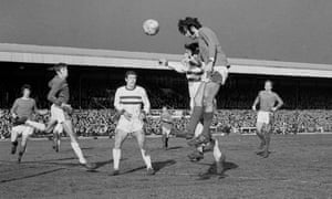 George Best heads his and Manchester United's first goal.