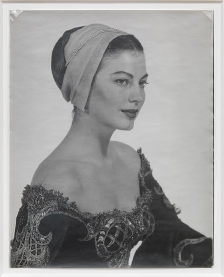 Man Ray capturing Ava Gardner in costume for Albert Lewin's Pandora and the Flying Dutchman, 1950.