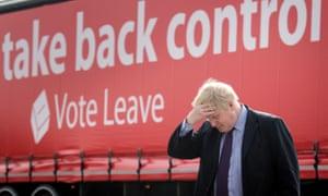 Boris Johnson at a Vote Leave campaign event, March 2016