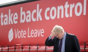 Boris Johnson at a Vote Leave campaign event in Dartford, Kent, March 2016