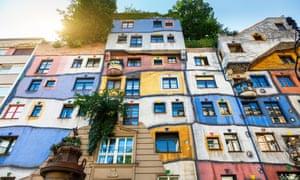 The multi-coloured Hundertwasser House in Vienna
