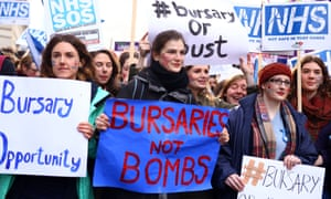 Student nurses protesting