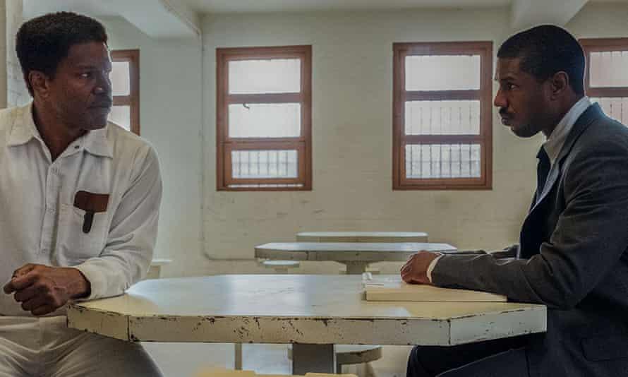 Jamie Foxx and Michael B Jordan in Just Mercy