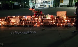 An evening vigil for Vanessa Guillén at the steps of Richmond's city hall.