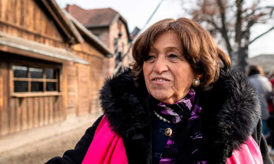Angela Orosz visits the memorial site.