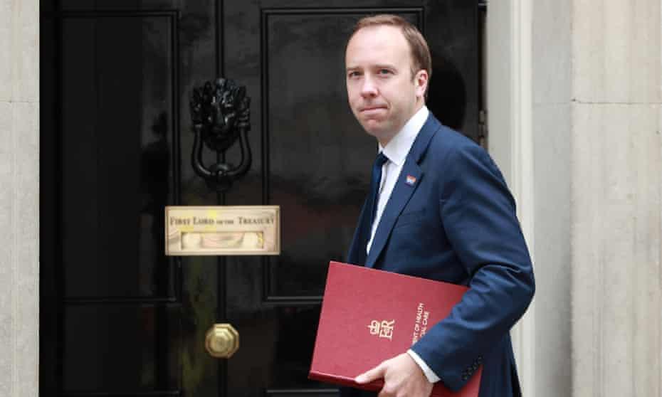 Health secretary Matt Hancock.