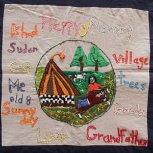patchwork art on show at the All in the Same Storm: Pandemic Patchwork Stories exhibition