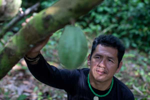 Julio Rodrigues, president of the Wanasseduume association, which came up with the idea for the cacao project.
