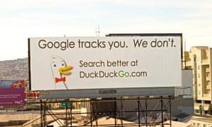 One of DuckDuckGo's billboard ads targeting Google.