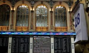 Spain's stock exchange in Madrid.