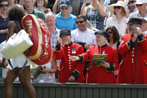 Chelsea Pensioners with Serena Williams