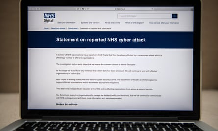 The attack hit England's National Health Service (NHS) on Friday, locking staff out of their computers and forcing some hospitals to divert patients.