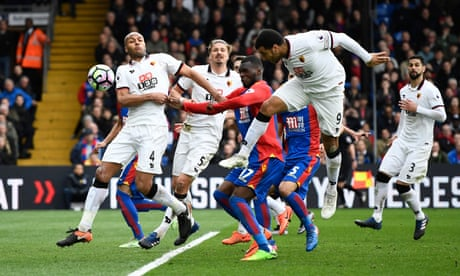 Troy Deeney's own goal gifts Crystal Palace rare home win against Watford