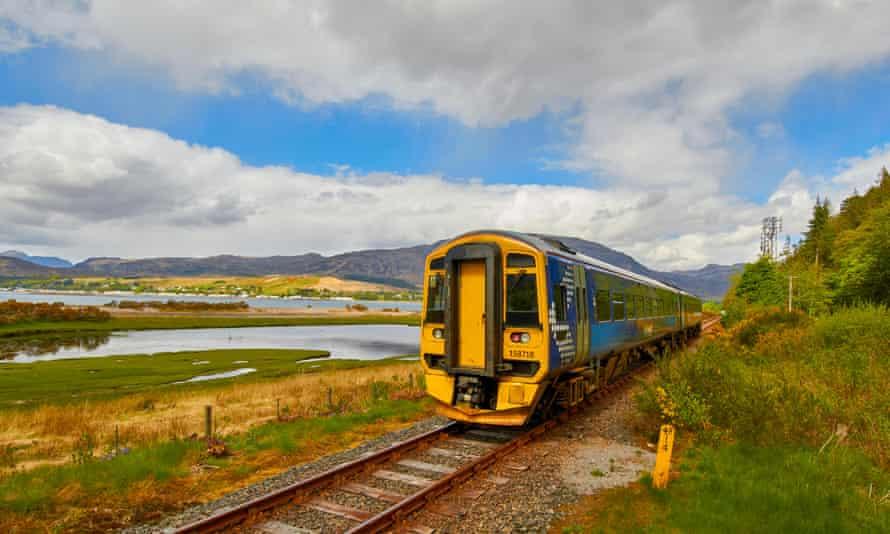 Leaving Attadale on the Kyle of Lochalsh line, Scotland.