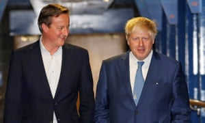 Former Etonians David Cameron and Boris Johnson.