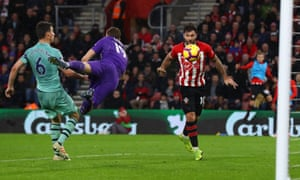 Charlie Austin of Southampton scores his team's third goal