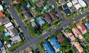 Suburban homes from the air