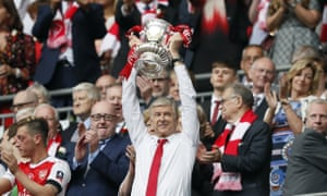 Arsène Wenger lifts the FA Cup in May. Ivan Gazidis said on Thursday: 'Sorry, old friend, but you are not the trophy we all want.'