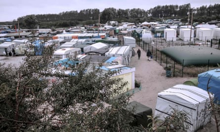 A view of the refugee camp in Calais