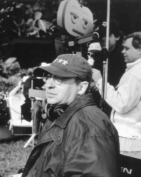 Barry Sonnenfeld on set.