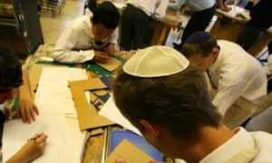 Students at a Jewish school in London. The report said that, worldwide, Jews had an average of 13.4 years of schooling.