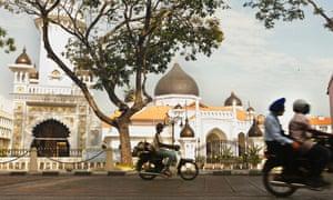 Kapitan Keling Mosque at sunrise Georgetown Penang Malaysia