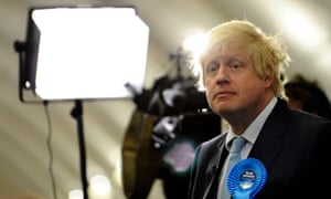 Boris Johnson on the night he was first elected as MP for Uxbridge and South Ruislip in 2015.