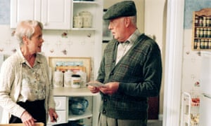 Richard Wilson and Annette Crosbie  in One Foot in the Grave