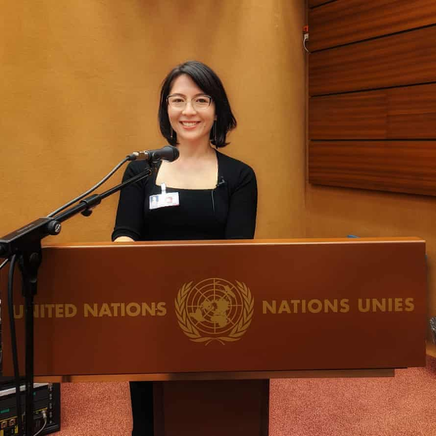 Sarah Dingle addressing the United Nations, on the rights of Donor Conceived people